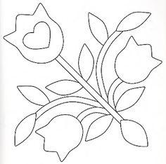 Flor agulha virada baltimore