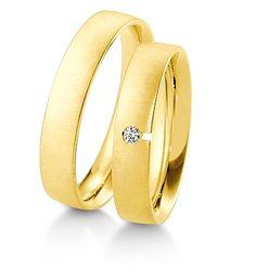 Breuning Trouwringen   Inspiration collectie gouden ringen   4,5mm briljant 0.03ct verkrijgbaar in 8,14 en 18 karaat   48041030 / 48041040 #breuning #jdbw #trouwringen #breuningtrouwringen #gouden #goud #diamant