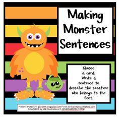 Pitner's Potpourri: Making Monster Sentences - Freebie