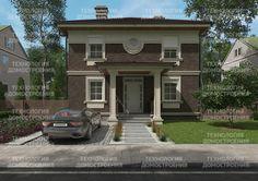 Проект дома 89-49 общая площадь 211,55 м2 из кирпича и керамического блока - Движущая Сила