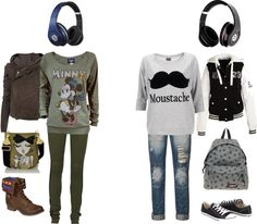 """Girly vs. Tomboy ."" by angieemarieee ❤ liked on Polyvore"