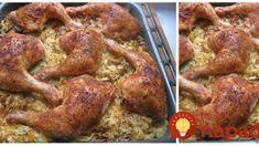 Takéto kuriatko robia len na Záhorí: Uložte ho na kyslú kapustu a dajte piecť, je to lahôdka nad lahôdky! Tandoori Chicken, Chicken Wings, Ham, Food And Drink, Cooking Recipes, Ethnic Recipes, Places, Random Stuff, Hams