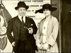 Pablo Picasso with Olga Khokhlova, a Russian ballerina and his first wife. Theirs was a stormy marriage (1917-1927), and Picasso and Olga later separated although they remained married so Olga would not receive half of Picasso's wealth -- until she died in 1955.