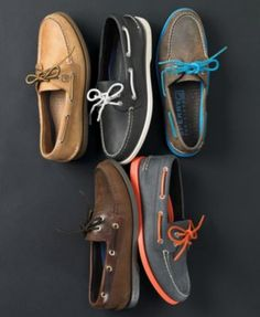 Deck shoe collection~ We would need these in the French Rivera