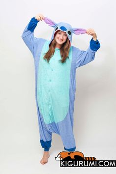 d4e16aa3a0 (Terrycloth) Stitch Onesie Kigurumi Character Costume Terrycloth Adult  Pajamas -  79 (What is