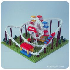 nanoblock Amusement Park with roller coaster and ferris wheel