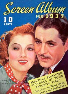 1937 Screen Album - Myrna Loy and Warner Baxter