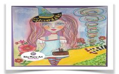 Mixed Media Painting - Dorothy - #WizardOfOzArt