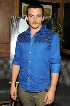 Rupert Friend Denim Button Up, Button Up Shirts, Rupert Friend, Emily Blunt, Homeland, Beautiful Men, Gentleman, Entertainment, Shirt Dress
