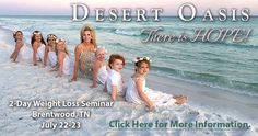 Join Gwen Shamblin at Desert Oasis! This changed my life! I went in 2005, lost 180 lbs and have kept it off since then!