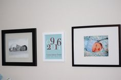 Baby Boy gifts - Nursery Decor birthdate and subway art print in brown and blue
