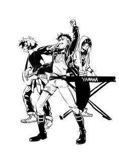 我画了一个YJ的乐队AU?!其实我真的很不会... 来自午前三時 - 微博