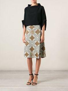 Fendi Vintage Geometric Patterned Skirt - A.n.g.e.l.o Vintage - Farfetch.com