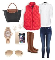 Prep by urbanbella on Polyvore featuring polyvore, fashion, style, Steffen Schraut, J.Crew, Miss Selfridge, Tory Burch, Longchamp, Rolex and Ray-Ban