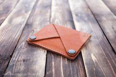 Woman slim wallet coin pocket wallet genuine leather by DiGeordie