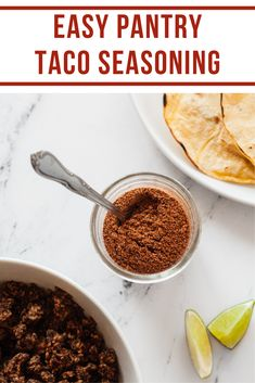 This healthy homemade taco seasoning will have you spicing up all your meals! #tacos #homemade