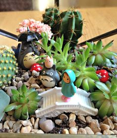 How to create a Fairytale Terrarium (with Totoro) Urban Outfitters Terrarium Blo. How to create a Terrarium Diy, My Neighbor Totoro, Kawaii, Hayao Miyazaki, Urban Street Art, Studio Ghibli, Bonsai, House Plants, Biscuit