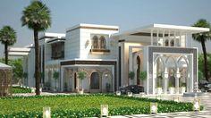 بيت العمر😍♥️ Neoclassical Architecture, Islamic Architecture, Modern Architecture House, Interior Architecture, Modern Exterior, Exterior Design, Building Design Plan, Beautiful Home Designs, Bungalow House Design