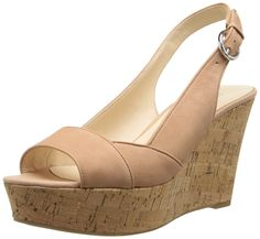 Nine West Women's Caballo Nubuck Wedge Sandal -- Find out more details by clicking the image : Wedge sandals