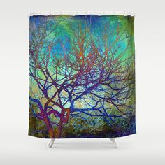 winter tree Shower Curtain by Sylvia Cook Photography - $68.00 #showercurtain #homedecor
