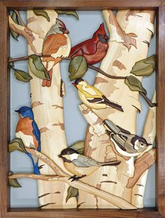 Janette Square and Bruce Worthington collaborated to make this complex intarsia that features a variety of beautiful birds. You can almost smell a sweet spring breeze just by looking at it!