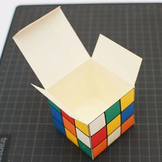 Rubik's cube printable diy gift box by proiect44 on Etsy