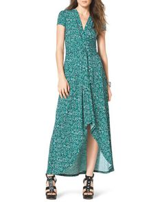 +Printed+High-Low+Maxi+Dress+by+MICHAEL+Michael+Kors+at+Neiman+Marcus.