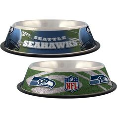 Seattle Seahawks Stainless Steel NFL Licensed Dog Bowl