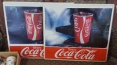plastic Coca Cola soda signs  $25 each