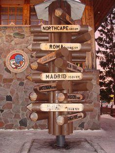Rovaniemi sign, for Santa's travels. Winter Fun, Winter Travel, Santa Claus Village, Christmas Destinations, Meet Santa, Lapland Finland, Scandinavian Countries, Kingdom Of Great Britain, European Countries