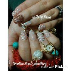 Flower shiny nails
