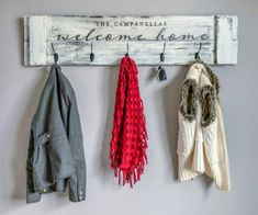 Welcome Home Coat Rack – 12×48 *Limited project and hardware availability, check with local studio