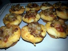 """Ray's' Bacon Cheeseburger Bombers - """"fast yummt appetizers! Great for a game or fight with a cold beer!"""" @allthecooks #recipe"""