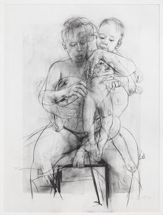 Jenny Saville, Reproduction drawing III (after the Leonardo cartoon), 2009-2010  http://2.bp.blogspot.com/_0s0cLs0ek48/S-rIeTVYxBI/AAAAAAAAADA/_W7OjZv_g0s/s1600/SAVILLE+2010+Reproduction+Drawing+III.jpg