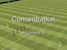Übungsablauf Concentration - Passen - Fußballtraining auf Soccerdrills.de - YouTube