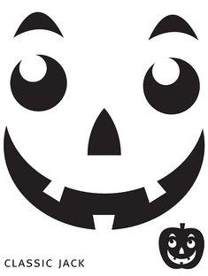 Free Printable easy funny jack o lantern face stencils patterns Pumpkin Template Printable, Pumpkin Face Templates, Printable Pumpkin Carving Patterns, Printable Stencils, Printable Pumpkin Faces, Halloween Stencils, Halloween Crafts, Halloween Face, Funny Halloween