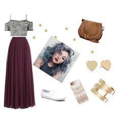 """""""Stars night"""" by agnesel ❤ liked on Polyvore featuring mode, Halston Heritage, Boohoo, Keds, Chloé, Casetify, Isabel Marant et Kate Spade"""
