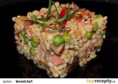 Kroupové rizoto recept Slovakian Food, Top Recipes, Grains, Food And Drink, Rice, Vegetables, Diet, Bulgur, Best Recipes