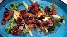 Svinestek med asiatisk vri og søtpoteter Pak Choi, Different Recipes, Beef, Food, Meat, Essen, Meals, Yemek, Eten