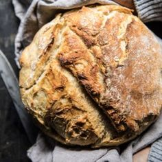 Cheaters No Knead Dutch Oven Sourdough Bread   halfbakedharvest.com @hbharvest
