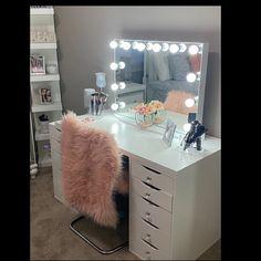 Low shipping & financing Vanity Mirror with lights Vanity Makeup Rooms, Makeup Room Decor, Vanity Room, Vanity Decor, Vanity Ideas, Vanity Mirrors, Vanity With Lighted Mirror, Teen Vanity, Small Vanity Mirror
