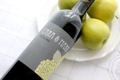 Bold Hydrangea Custom Wine Bottle Labels by DesignMyWine on Etsy, $2.50