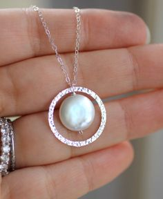 Sterling Silver Eternity Necklace Circle Necklace by LRoseDesigns