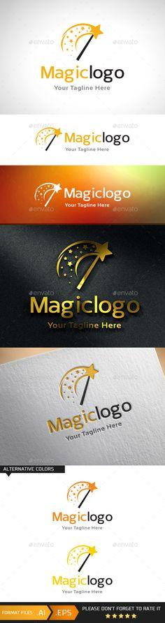 Magic Logo Template: Object Logo Design Template created by gunawanarief. Logo Design Template, Logo Templates, Clever Logo, Education Logo, Elegant Logo, Kids Logo, Modern Logo, Vinyl Lettering, Text Color