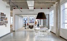 NicholsBooth Architects Offices – San Francisco, CA. The opportunity to design their own new office allowed NicholsBooth to practice what they preach—to create a flexible space that acts as a showroom for their design work.