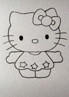 Kitten Drawing Easy drawings for kids Kitten Drawing Easy Cute Little Drawings, Cute Cartoon Drawings, Easy Drawings For Kids, Cartoon Girl Drawing, Drawing For Kids, Minion Drawing, Drawing Ideas, Easy Pencil Drawings, Girl Drawing Sketches