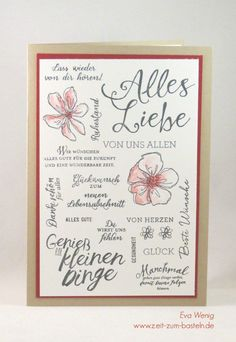 Many many wishes – time to tinker – Gift Ideas 2020 Calligraphy For Beginners, Trending Topic, Diy And Crafts, Paper Crafts, Homemade Birthday Cards, Some Words, Stamping Up, Diy Cards, Stampin Up Cards