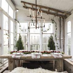 Il Natale rustico chic nella casa di campagna