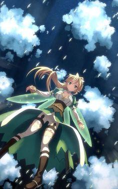 Sword Art Online, Leafa, by uki Sword Art Online Asuna, Sao Anime, Manga Anime, I Love Anime, Awesome Anime, Fanarts Anime, Anime Characters, Leafa Sao, Kirito