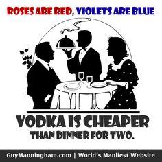 Vodka is Cheaper.